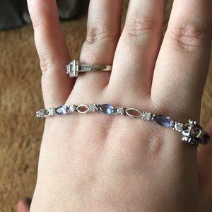 Jewelry - Still for sale😊925 silver tennis bracelet 🦄